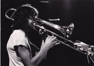 Mit dem Vienna Art Orchestra, 1982